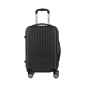 Černý cestovní kufr na kolečkách s kódovým zámkem SINEQUANONE Iskra, 44l