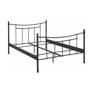 Černý kovový postelový rám Støraa Victor