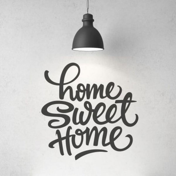 Dekorativní nálepka na stěnu Home Sweet Home