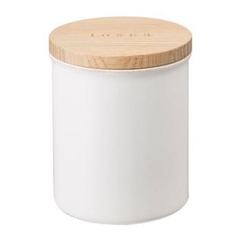 Recipient cu capac din bambus YAMAZAKI Tosca, alb imagine