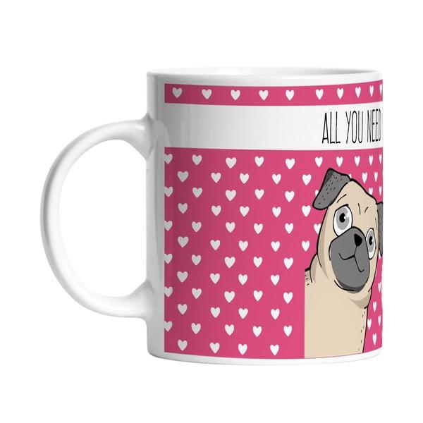 Keramický hrnek I Love My Dog, 330 ml