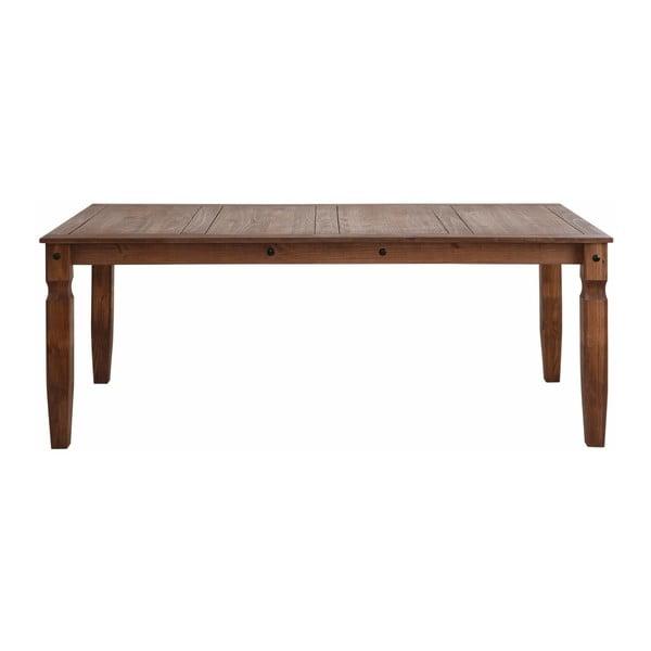 Alfredo sötétbarna tömör fenyőfa étkezőasztal, 92 x 178 cm - Støraa