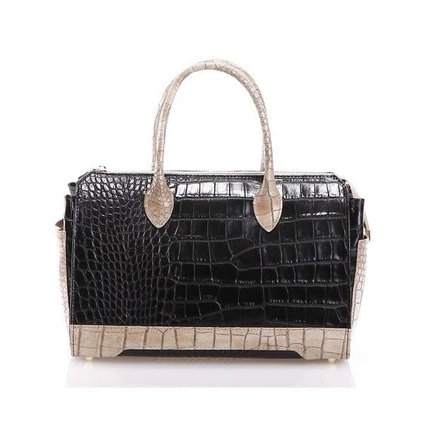 Kožená kabelka Livie, černá