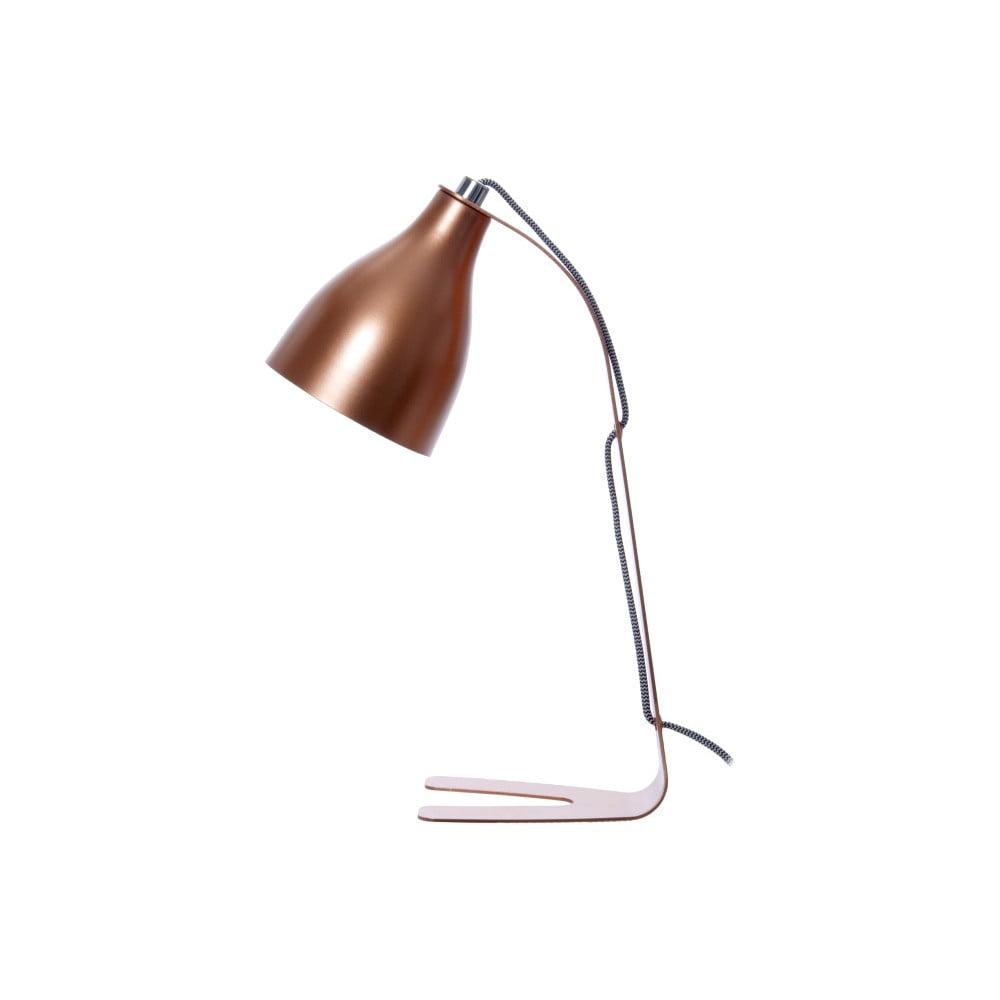 Stolní lampa v měděné barvě Present Time Barefoot