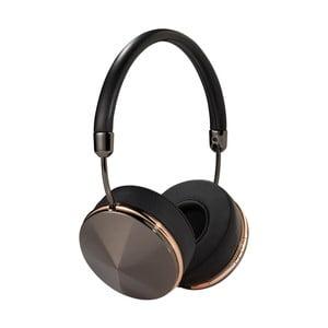 Černá sluchátka s odpojitelným kabelem a detaily v barvě růžového zlata Frends Taylor Wireless