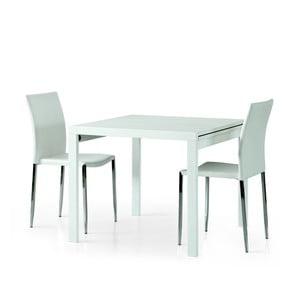 Bílý dřevěný rozkládací jídelní stůl Castagnetti Exti