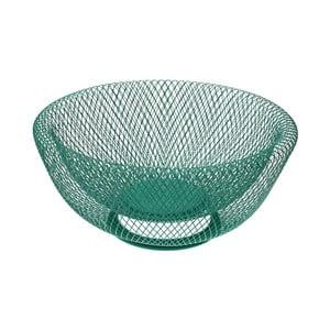 Zelená kovová mísa na ovoce Versa Chromed Fruit Basket