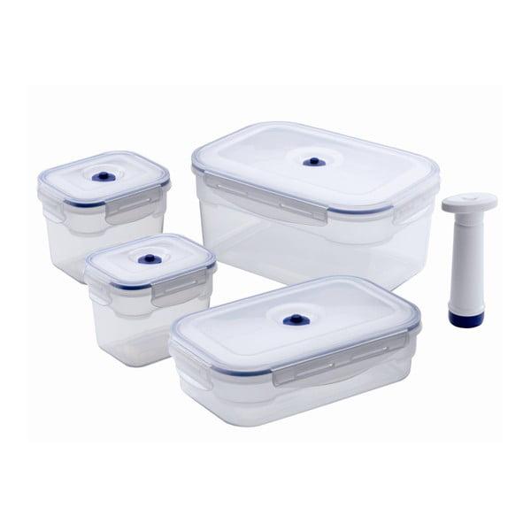 Food Saver 4 db élelmiszer-tároló szett vákuumpumpával - Compactor