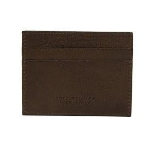 Tmavě hnědá pánská kožená peněženka na bankovky a karty Billionaire, 8 x 10 cm