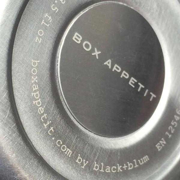 Zelená nerezová termoska na svačinu Black + Blum Flask, 400 ml