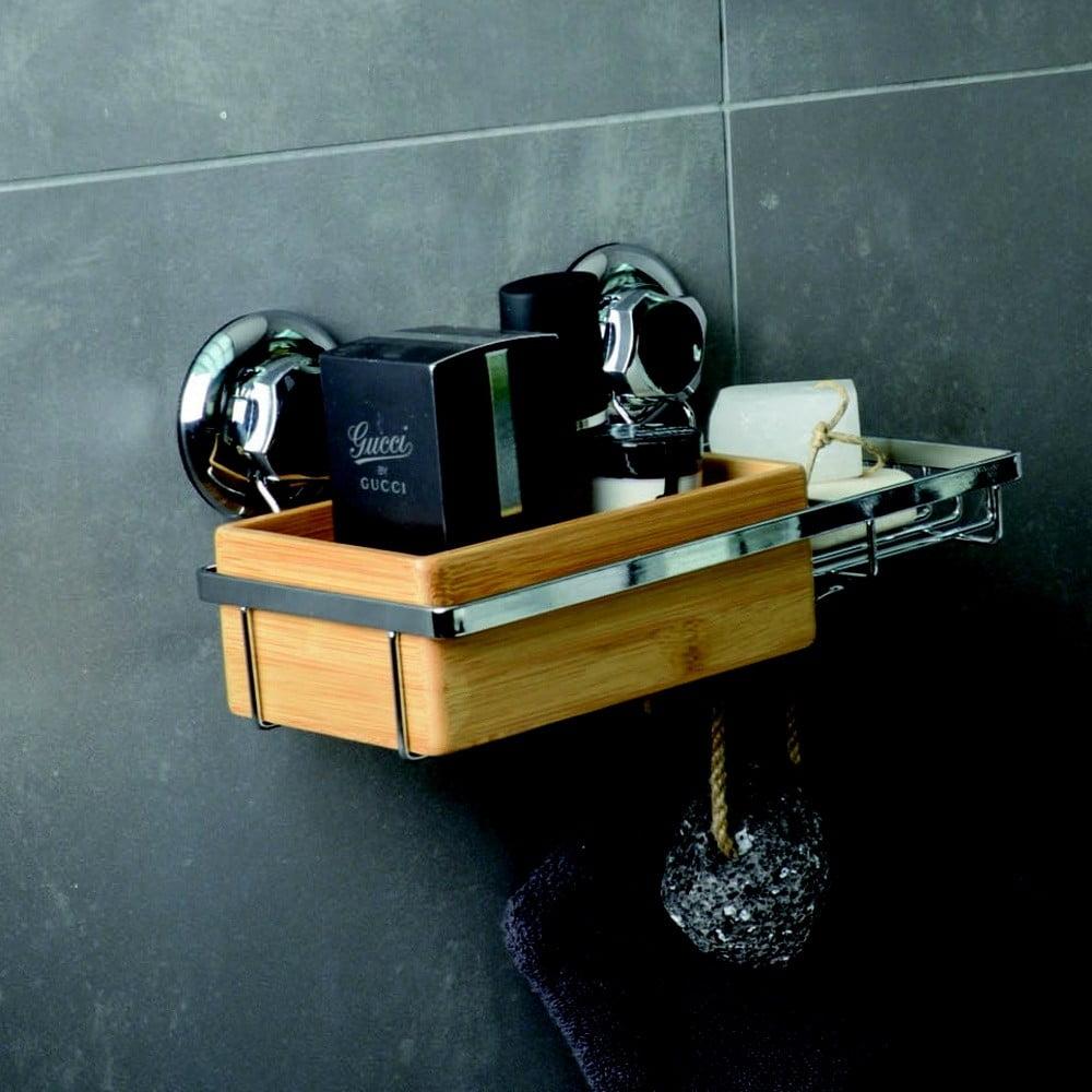 Bambusový držák s mřížkou na mýdlo Compactor Spa