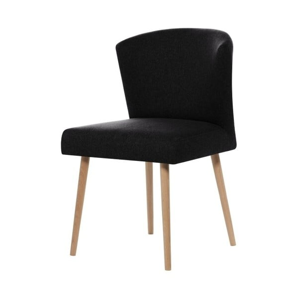 Čierna jedálenská stolička Rodier Richter