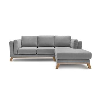 Canapea cu șezlong pe partea dreaptă Bobochic Paris Seattle, gri