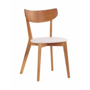 Dubová židle s bílým sedákem Folke  Aegi