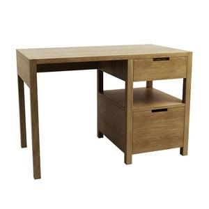 Pracovní stůl z dubového dřeva Fornestas Sims