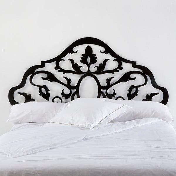 Černé kovové čelo postele Thai Natura Sing, pro šířku 150 cm