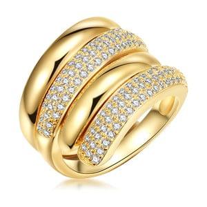 Dámský prsten ve zlaté barvě se zirkony Runaway Rea, vel. 58