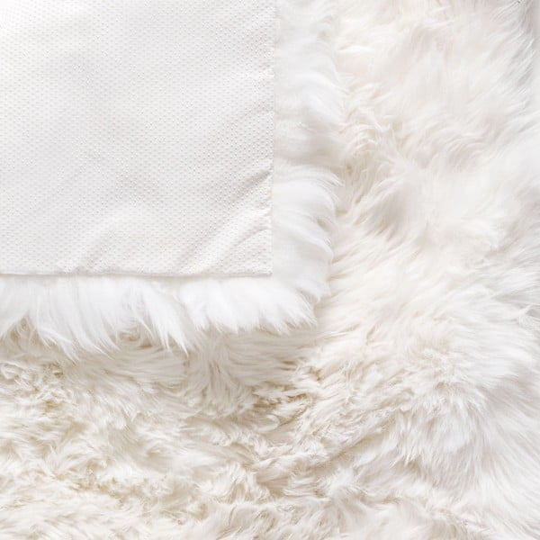 Bílý koberec z ovčí kožešiny Royal Dream Zealand, 70x70cm