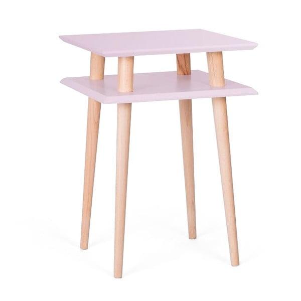 Konferenční stolek UFO Square Pink, 43 cm (šířka) a 61 cm (výška)