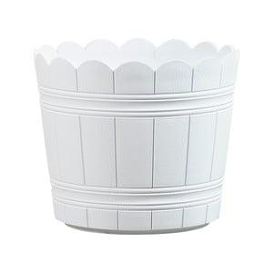 Vysoce odolný květináč Country 24 cm, bílý