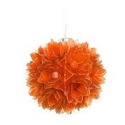 Perleťové závěsné světlo Lotus, oranžové