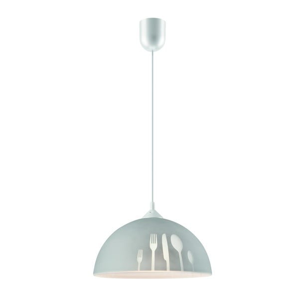 Szara lampa wisząca Lamkur Forks