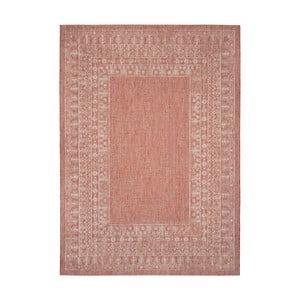 Červenobéžový koberec vhodný i na ven Safavieh Marea, 160 x 231cm