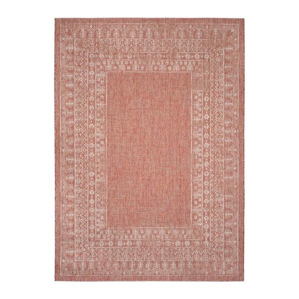 Covor potrivit pentru exterior Safavieh Marea, 231 x 160cm, bej - roșu