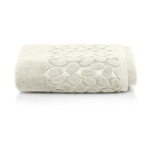 Šedobéžový bavlněný ručník Maison Carezza Ciampino, 50 x 90 cm