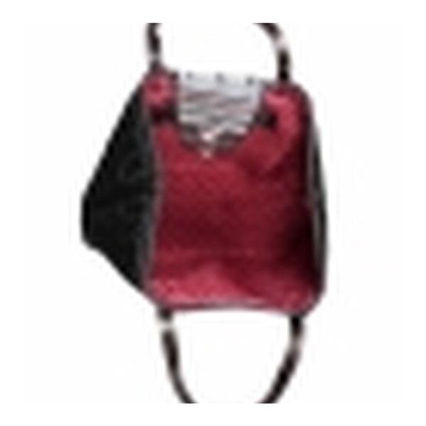 Prošívaná maxi kabelka Destiny s vyšívanou klapkou
