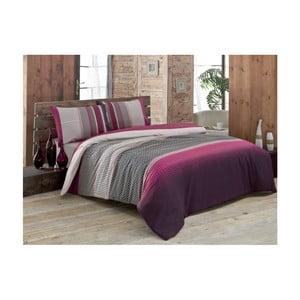 Lenjerie de pat cu cearșaf Lotuses, 160 x 220 cm