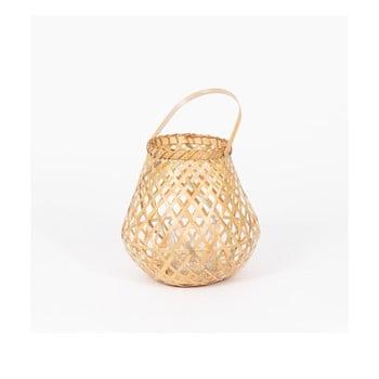 Felinar din bambus Compactor Bamboo Lantern, ⌀ 25 cm, natural imagine