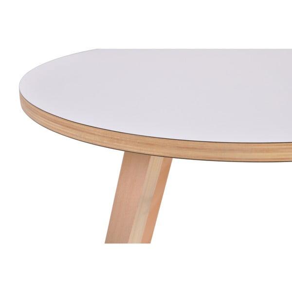 Bílý kulatý konferenční stolek Garageeight Arvika, ⌀54cm