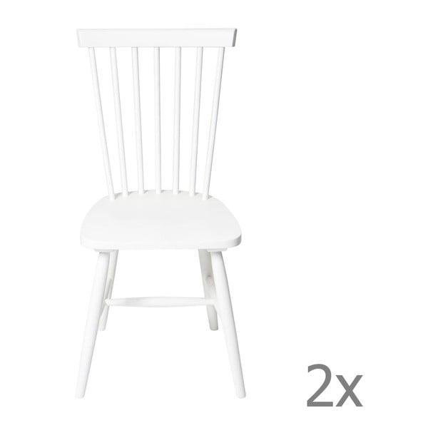 Sada 2 židlí Sena White