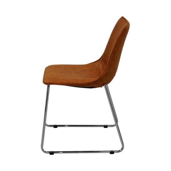Koňakově hnědá jídelní židle Actona Felix