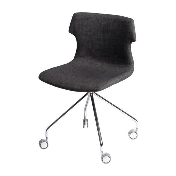Sada 2 hnědých čalouněných židlí D2 Techno Roll
