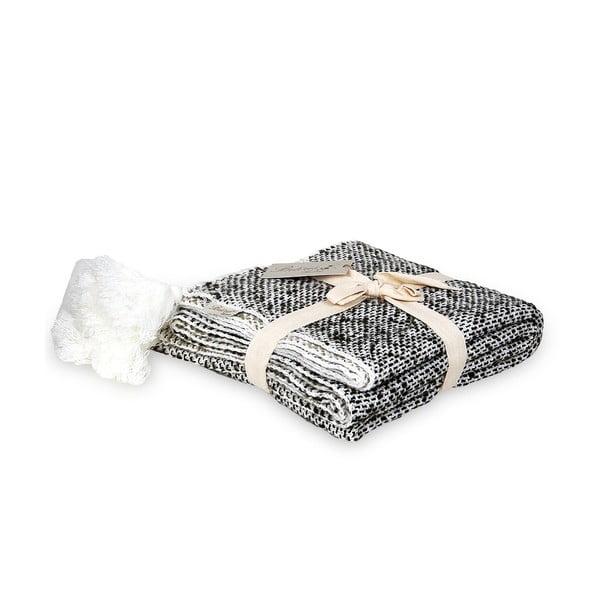 Bílo-černá deka Tete