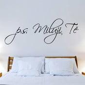Dekorativní samolepka na zeď P.S. Miluji tě