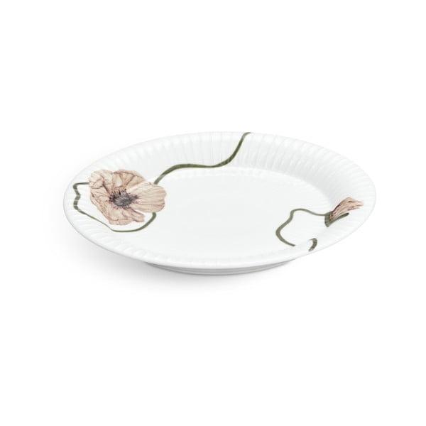Bílý porcelánový talíř Kähler Design Hammershøi Poppy, ø22cm