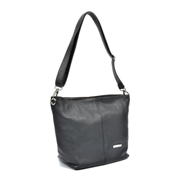 Černá kožená kabelka Luisa Vannini Elaina