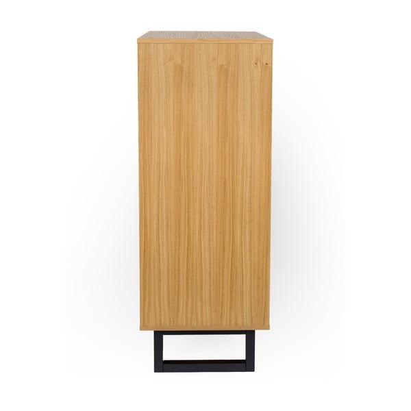 Komoda z březového dřeva Woodman Mora Herringbone Print