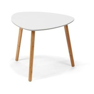 Masă de cafea loomi.design Viby, alb, gri deschis