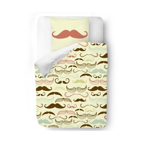 Povlečení Brown Mustache, 140x200 cm