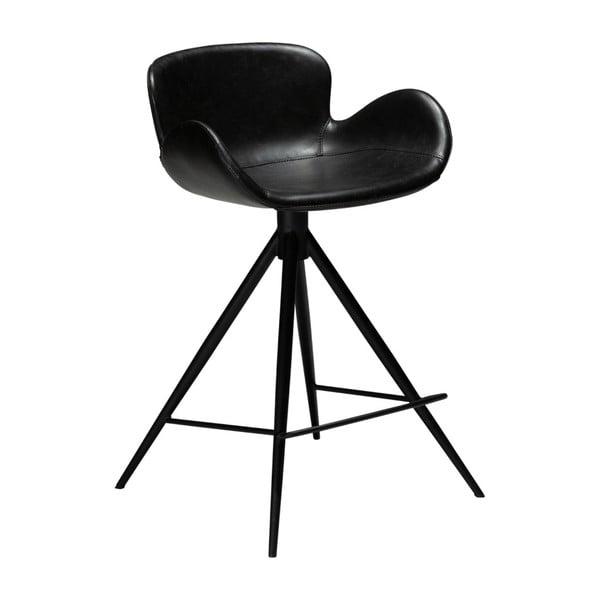 Černá barová židle z eko kůže DAN–FORM Denmark Gaia, výška 87 cm
