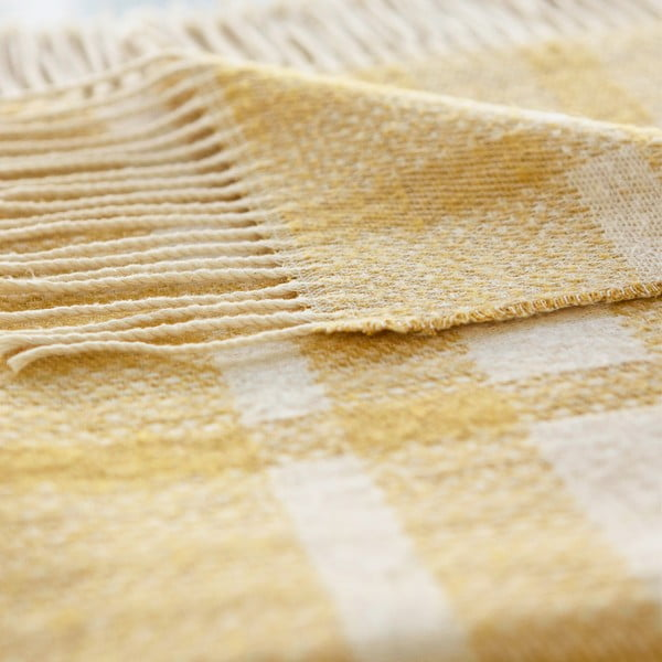 Pléd Antibes 130x180 cm, žlutý