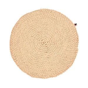 Ručně pletený koberec 70 cm, ecru