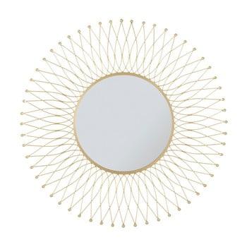 Oglindă de perete cu ramă din fier Mauro Ferretti Glam Ipnos, ⌀ 75 cm imagine