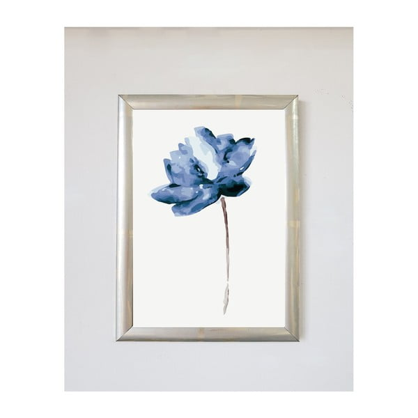 Flower Bleu kép, 30x20cm - Piacenza Art