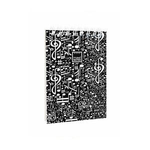 Černý poznámkový blok Makenotes Music, A7
