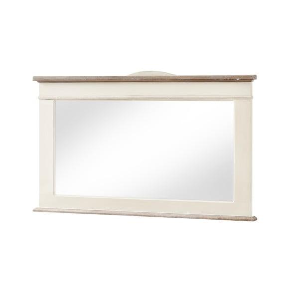 Zrcadlo v krémovém rámu z topolového dřeva Livin Hill Rimini, výška57cm